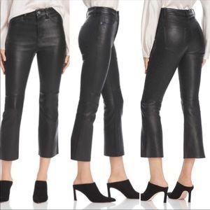 NWT Current/Elliot kick flare leather pants sz 26